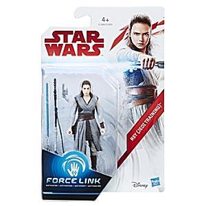 Läs mer om Star Wars Rey (jediträning) Force Link-figur