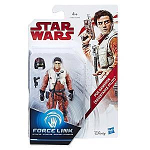 Läs mer om Star Wars Poe Dameron (pilot i motståndsrörelsen) Force Link-figur
