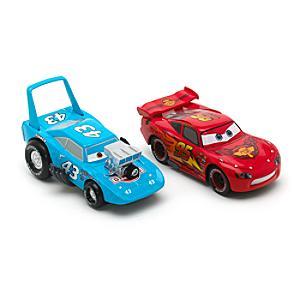 Läs mer om Disney Pixar Bilar Hot Rod Blixten McQueen och Kungen diecast-modeller