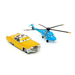 Läs mer om Disney Pixar Bilar Tex och Dinoco Chopper diecast-modeller