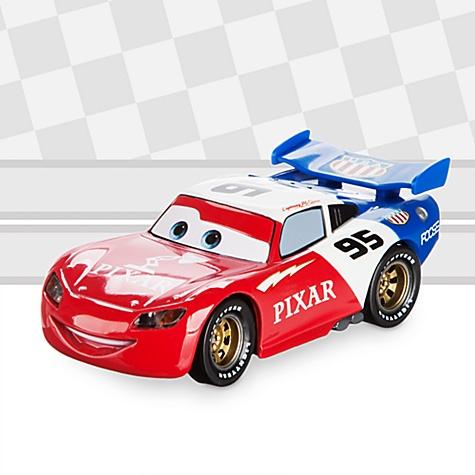Voiture miniature customisée Flash McQueen de Disney Pixar Cars, de la série The Artist