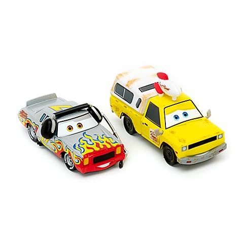 Modèles réduits Darrell Cartrip et Pizza Planet de Cars, Disney Pixar