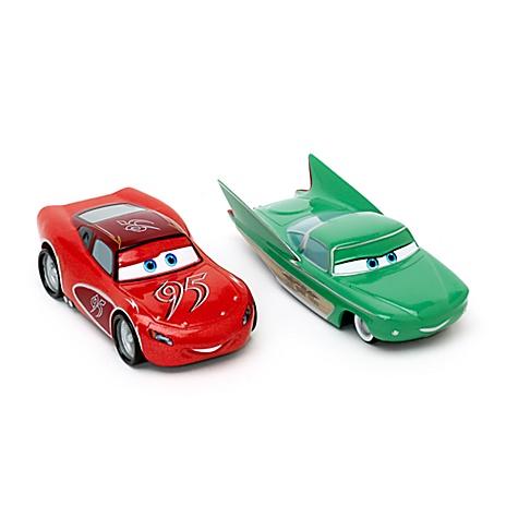 Modèles réduits Flash McQueen et Flo de Cars, Disney Pixar