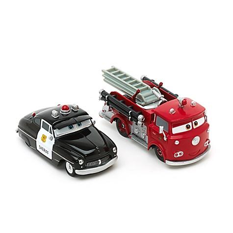 Modèles réduits Sheriff et Red de Cars, Disney Pixar