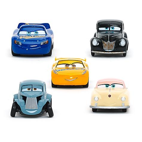 Coffret Cadeau de 5voitures miniatures de luxe, disney pixar cars3