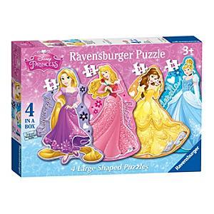 Läs mer om Disney Prinsessor pussel med stora bitar, set om 4