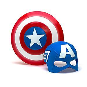 Läs mer om Captain America set med mask och sköld