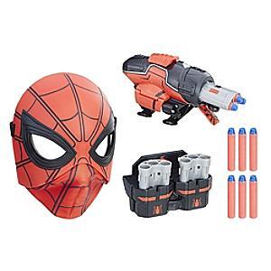 Läs mer om Spider-Man: Homecoming pistol som snabbt kan laddas om och uppfällbar mask