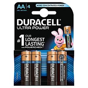 Läs mer om Duracell Ultra Power, alkaliska AA-batterier, 4-pack