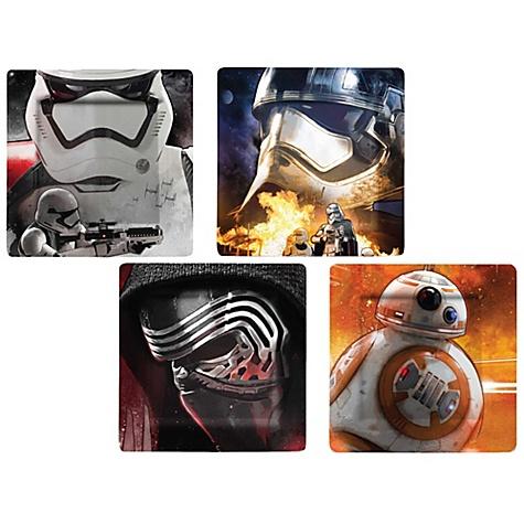 Ensemble d\'assiettes en mélamine Star Wars : Le Réveil de la Force