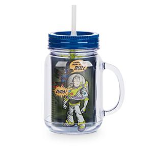 Toy Story Jam Jar Cup With Straw