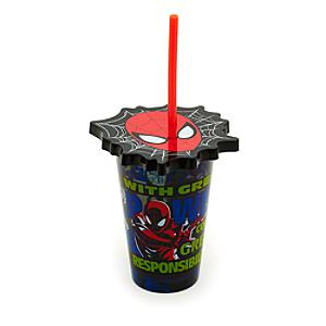 SpiderMan Tumbler With Straw