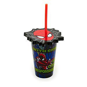 Läs mer om Spiderman dricksglas med sugrör