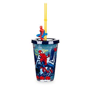 Läs mer om Spider-Man vattenfyllt dricksglas med sugrör