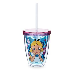Läs mer om Alice i Underlandet dricksglas med sugrör som ändrar färg