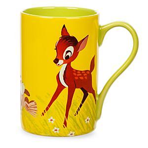 Läs mer om Bambi och Stampe mugg med vinylomslagskonst