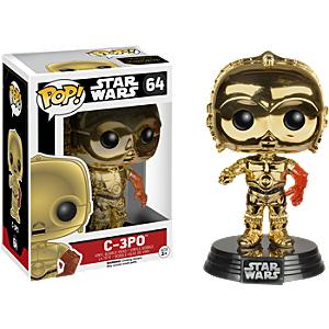 Läs mer om Star Wars: The Force Awakens metallisk C-3PO Pop! Funko vinylfigur