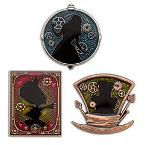 Läs mer om Alice i Spegellandet pins i begränsad upplaga, set med 3 st