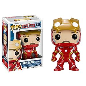 Läs mer om Omaskerad Iron Man Pop! Vinylfigur från Funko