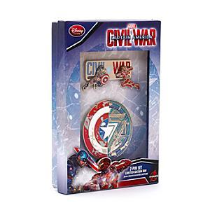 Läs mer om Captain America: Civil War pins i begränsad upplaga, set med 2