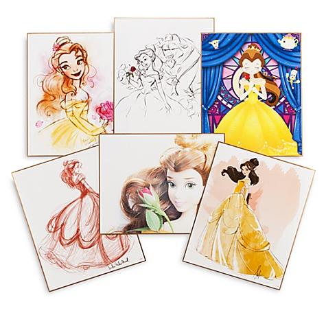 6 lithographies Art of Belle, en édition limitée