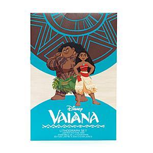 Läs mer om Vaiana litografier i begränsad upplaga, set med 4