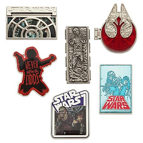 Ensemble de 6 pin's Han Solo de Star Wars, ?dition Limitée