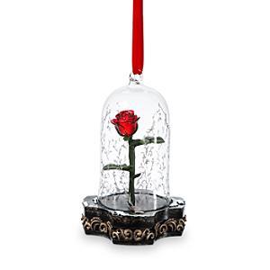 Läs mer om Prydnadsföremål i form av rosen från Skönheten och Odjuret som tänds