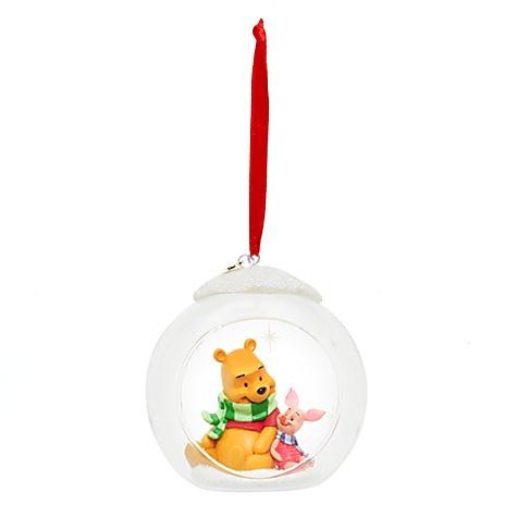 Décoration de Noël en forme de boule ouverte Winnie l