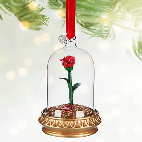 Décoration de Noël lumineuse Rose, La Belle et la Bête