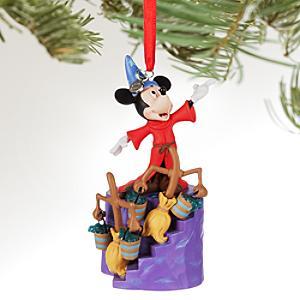 Läs mer om Musse Pigg som Trollkarlens lärling upplyst juldekoration