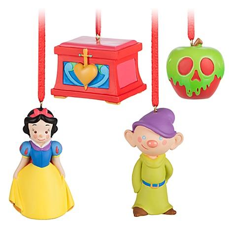 Ensemble de 4 décorations de Noël Blanche Neige