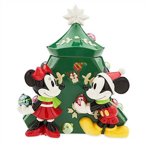 Boîte à biscuits de Noël Mickey et Minnie Mouse