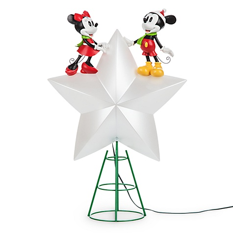 Cime D'arbre de noël lumineuse mickey et minnie mouse