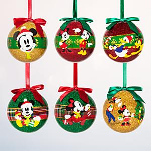 Läs mer om Musse och Mimmi Pigg julgranskulor, 6 st
