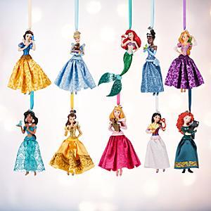 Läs mer om Juldekorationer med Disney-prinsessor, set med 10