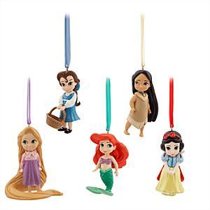Disney Animators Collection statyetter, set med 5