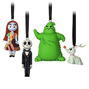 Läs mer om The Nightmare Before Christmas hängande ornament, 4-pack