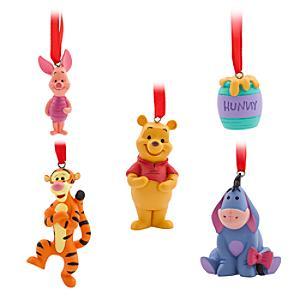 Läs mer om Nalle Puh hängande ornament, 5-pack