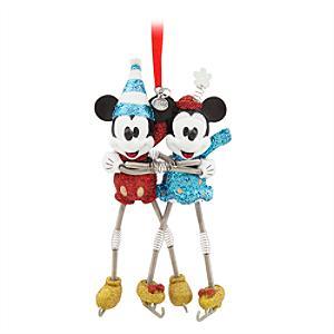 Läs mer om Musse och Mimmi åker skridskor hängande ornament