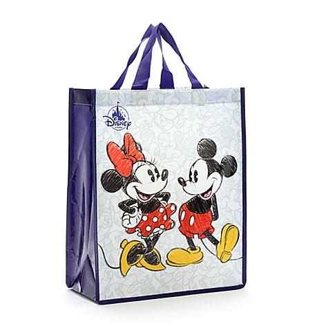 Sac de shopping standard réutilisable Mickey et Minnie