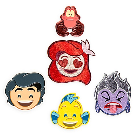 ‰cussons Autocollants la petite sirène, disney emoji