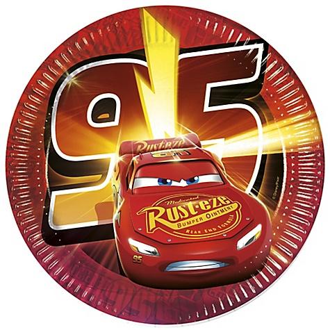 Lot de 8assiettes de fête Disney Pixar Cars3