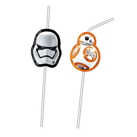 6 pailles flexibles Star Wars : Le Réveil de la Force