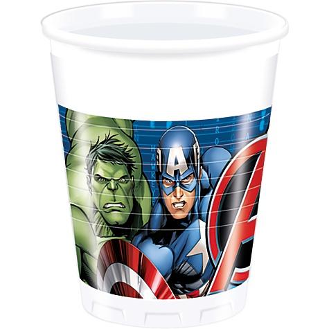 8 gobelets de fête Avengers