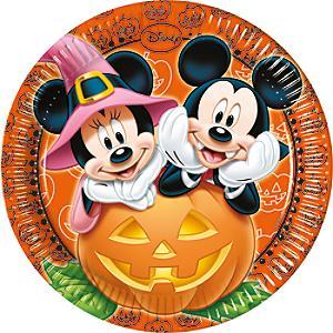 Läs mer om Musse och Mimmi Pigg 8x halloween-partytallrikar