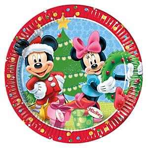 Mickey Mouse og Minnie 8x juletallerkener