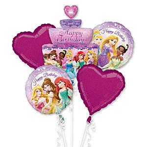 Läs mer om Disney Prinsessor ballongbukett