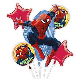 Läs mer om Spiderman ballongbukett