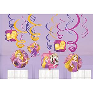 Rapunzel - Neu verföhnt - 6 x Partydekoration spiralförmig